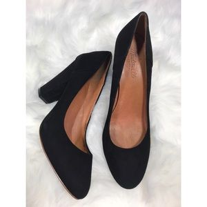 Madewell the Frankie Pumps Leather suede heels